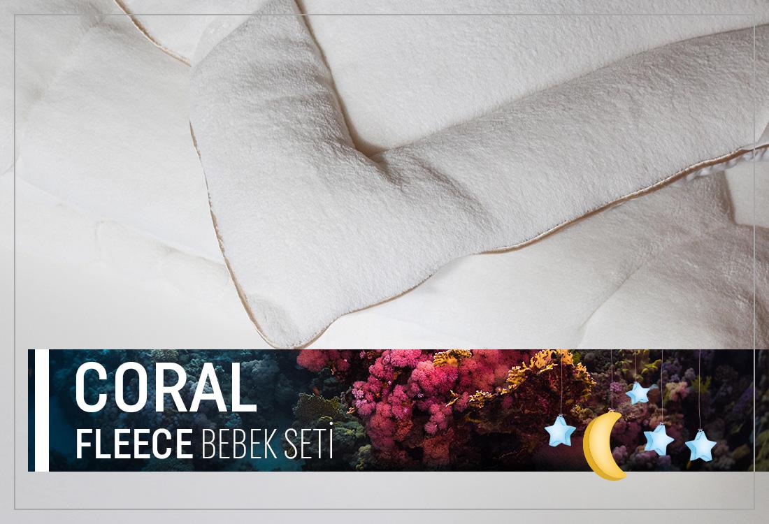 Coral Fleece Bebek Seti